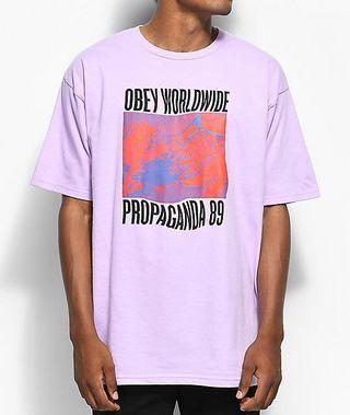 Obey 紫色t-shirt(保存良好)