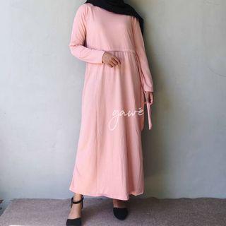 Enima long dress peach