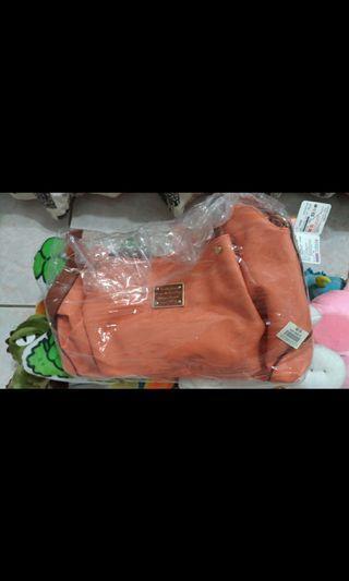 粉橘色大包包 肩背包 側背包 藍天小鋪 #恭喜旋轉七歲囉!
