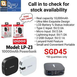 🚚 Ipipoo LP-23 10,000mAh Mini Portable Power Bank