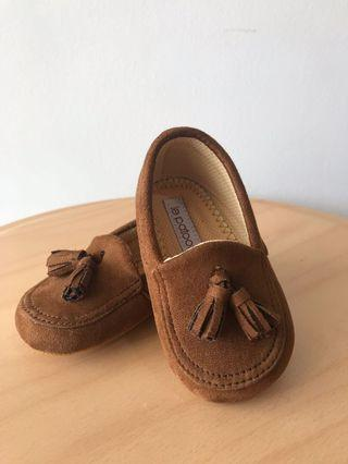 Baby loafers suede unisex brand le patootie