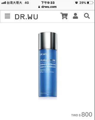 DR.WU 玻尿酸保濕精華化妝水清爽型)150ML
