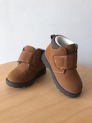 H&M brown boots unisex [like new condition]