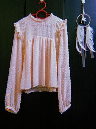 Peach Lace Doll Top