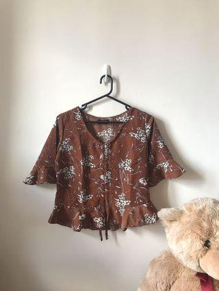 Blouse Summer Cokelat