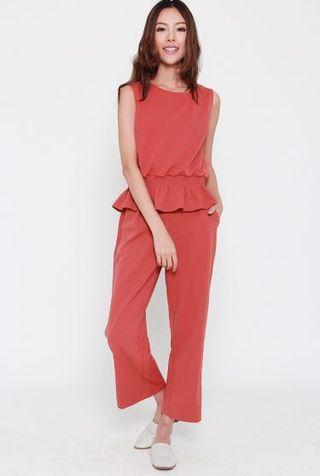 Tracyeinny Chang 2 in 1 pants set in orange