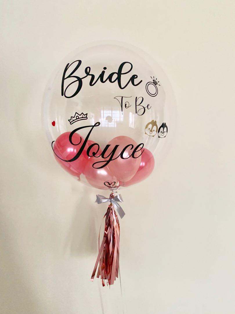 """24"""" Personalised Clear Bubble Balloon"""