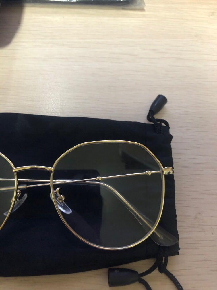 無度數眼鏡金色