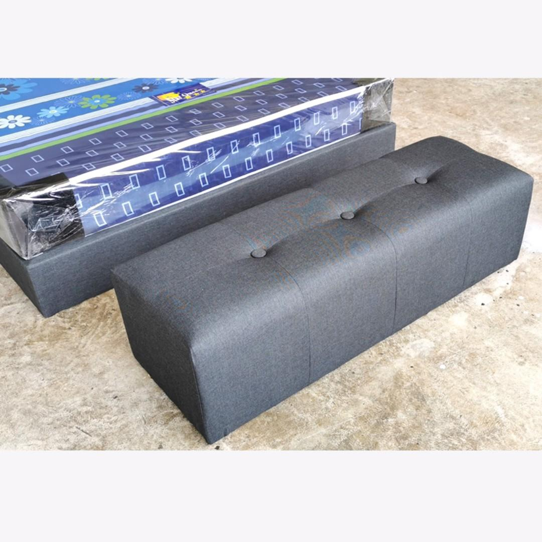 Amelie Fabric Bed Frame Free Ottoman