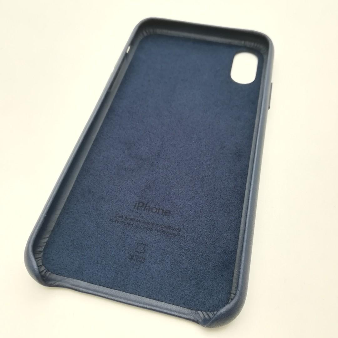 Apple iPhone XS Leather Case Night Blue