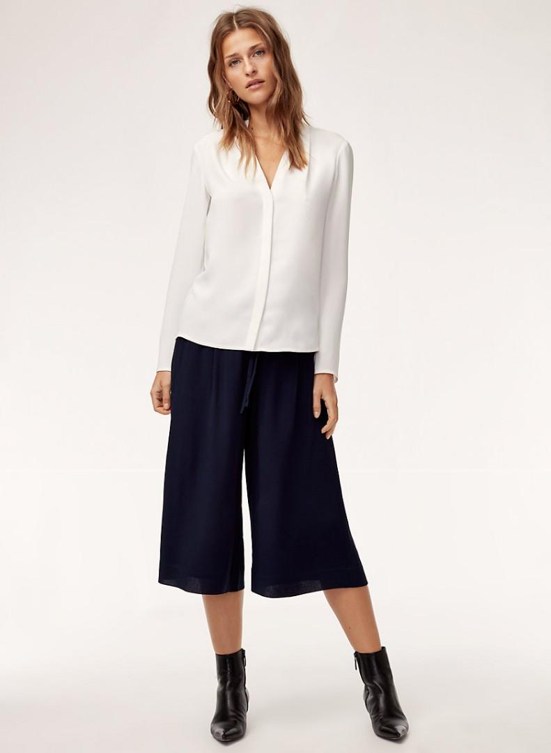 Aritzia Babaton Luiz Culottes Cropped Pants black xs
