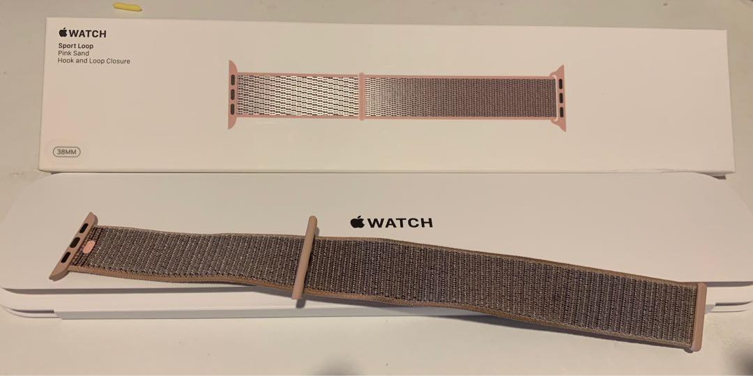 Authentic apple watch 38mm pink sand sport loop band