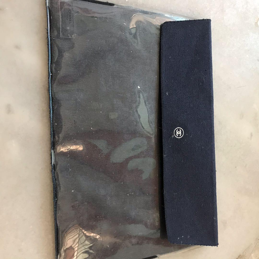 Authentic Chanel Beaute make up pouch case clutch pencil bag wallet