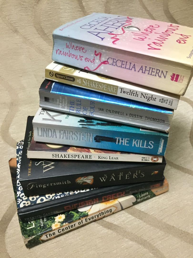 BOOKS FOR SALE!!! (Love, Rosie. , Fingersmith, The Center of Everything, The Kills, & moooore)