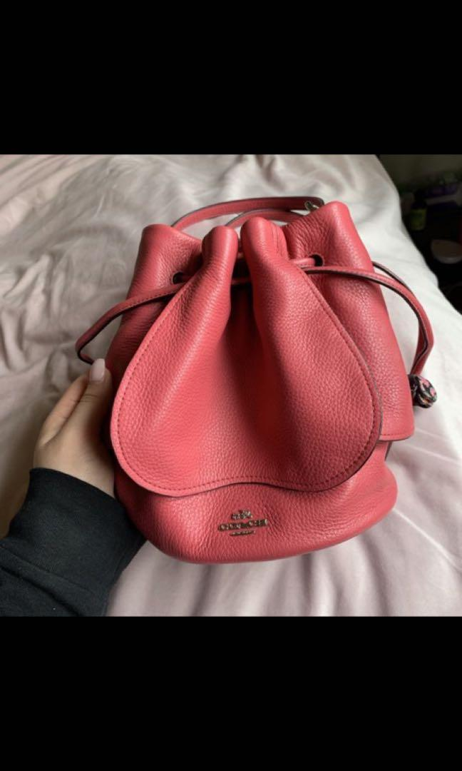 Brand New with Tags Coach pebble leather petal bag