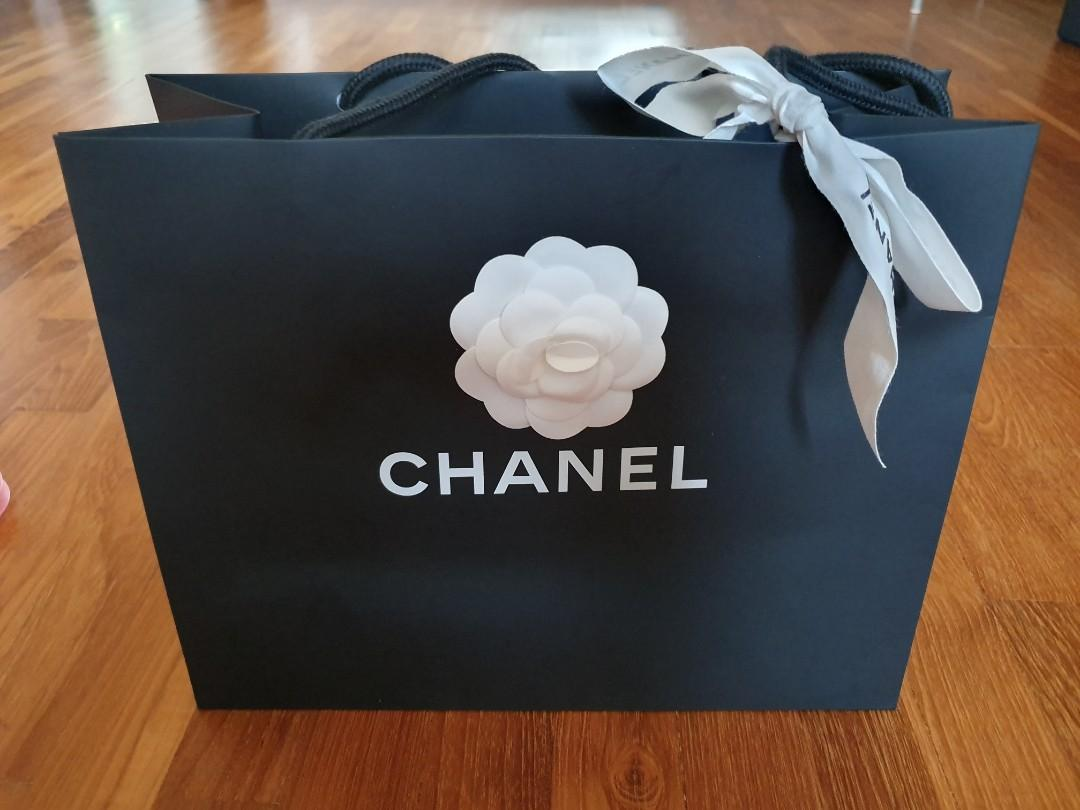 Chanel Paper Bag with Camelia