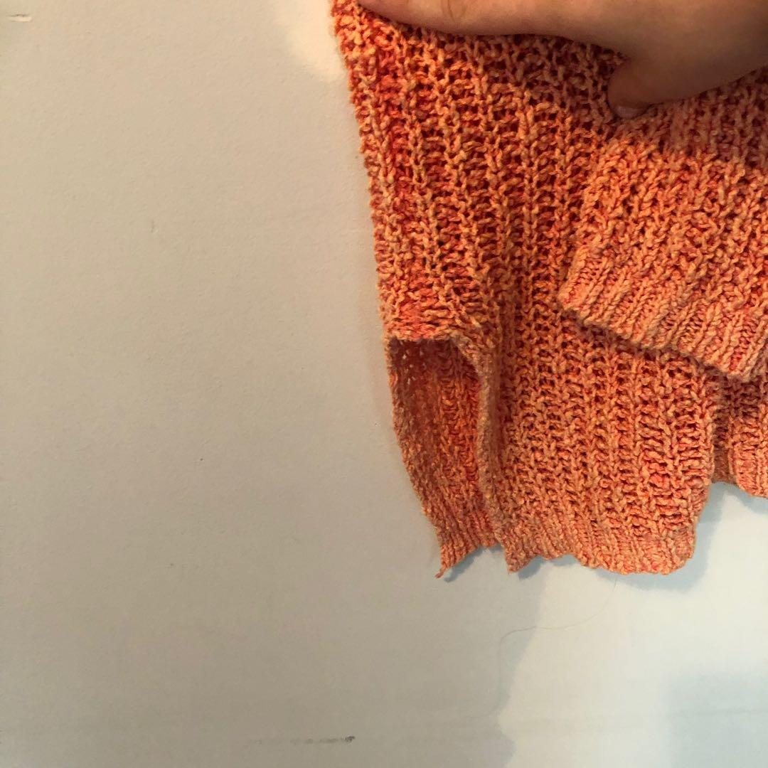 FREE PEOPLE orange oversized drop shoulder sweater size small