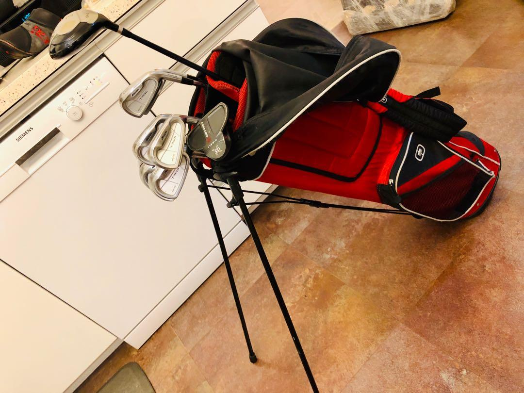 Golf set for men - Excellent condition Mizuno T-Zoid MX-20 iron set for $2,500;  Full set plus a Callaway driver, wood and an Odyssey putter and Ogio golf bag for $3,800 vs original cost $17k
