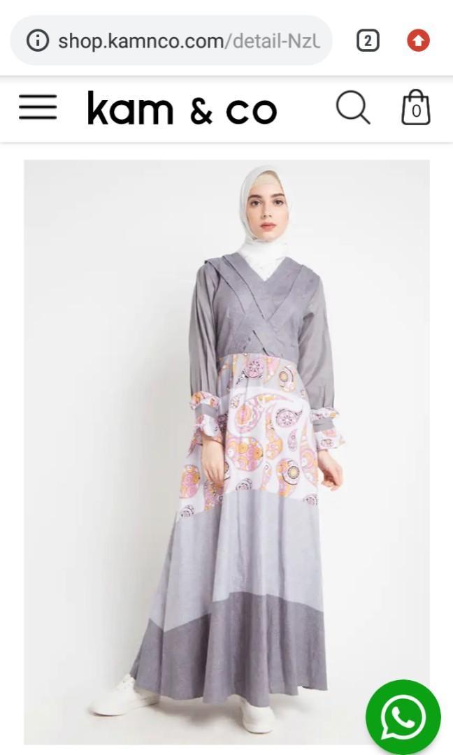 Gamis Merk Mlc Dan Kam N Co New Free Jilbab Arrafi Wrn Silver Sepatu Size 39 Dan Kaos Kaki Fesyen Wanita Muslim Fashion Lainnya Di Carousell