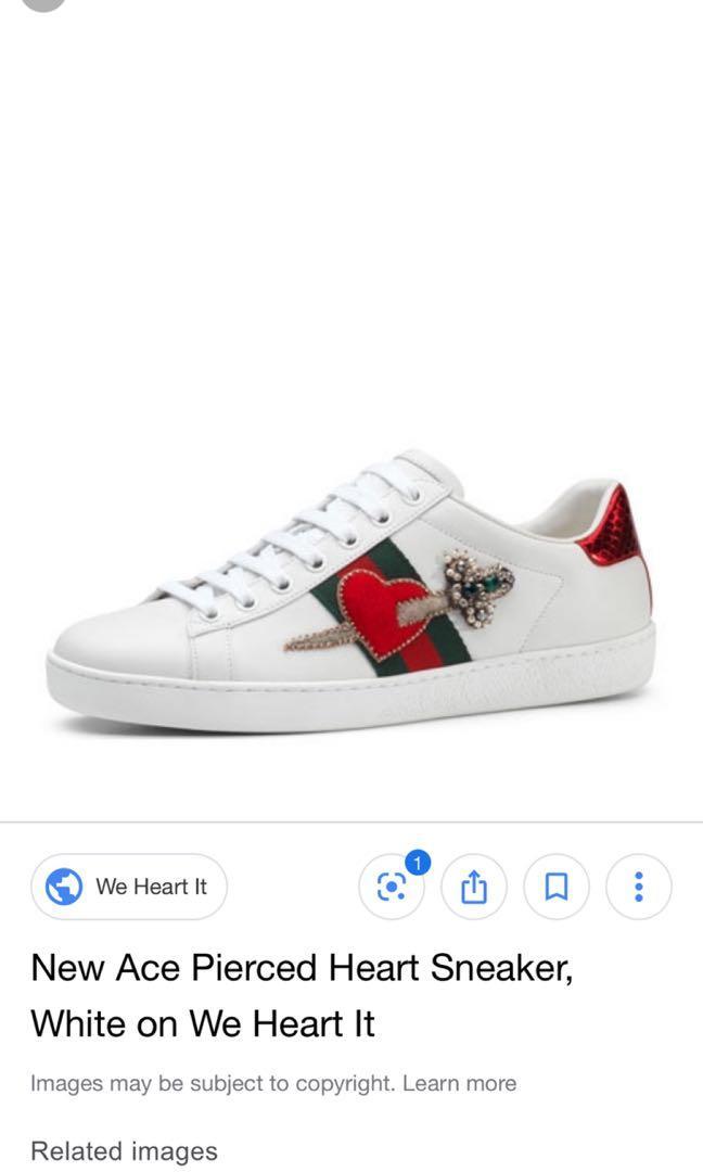 Gucci Ace Heart Dagger Sneakers, Men's