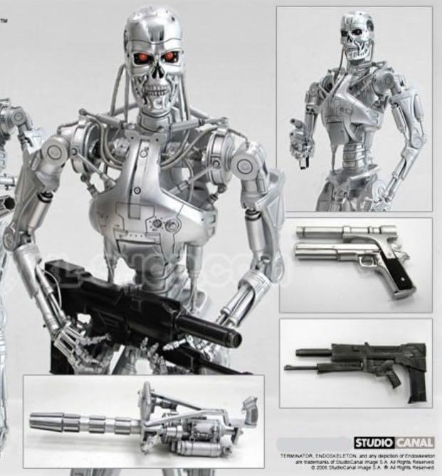 Hottoys T-800 Endoskeleton MMS33 Terminator 2 Judgement Day 未來戰士 t800