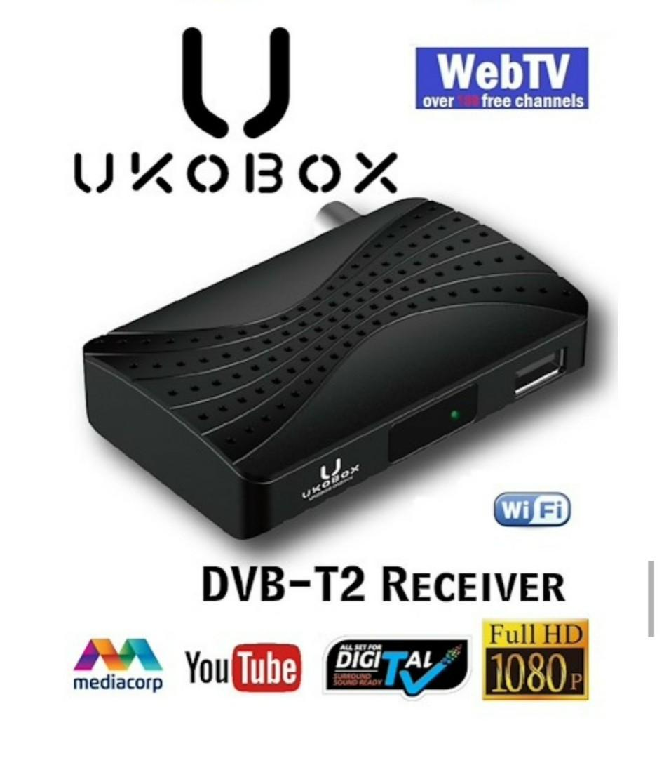★IMDA Approved and Local Warranty★ UKOBOX DVB-T2 Receiver / DVB-T2 Tunner / dvb t2 box / Digital TV Tuner/ Digital TV Active Antenna