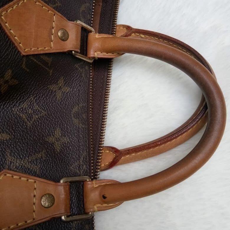 Louise Vuitton Authentic Speedy bahan kulit asli ada nomor seri kulit mulus Like New✨