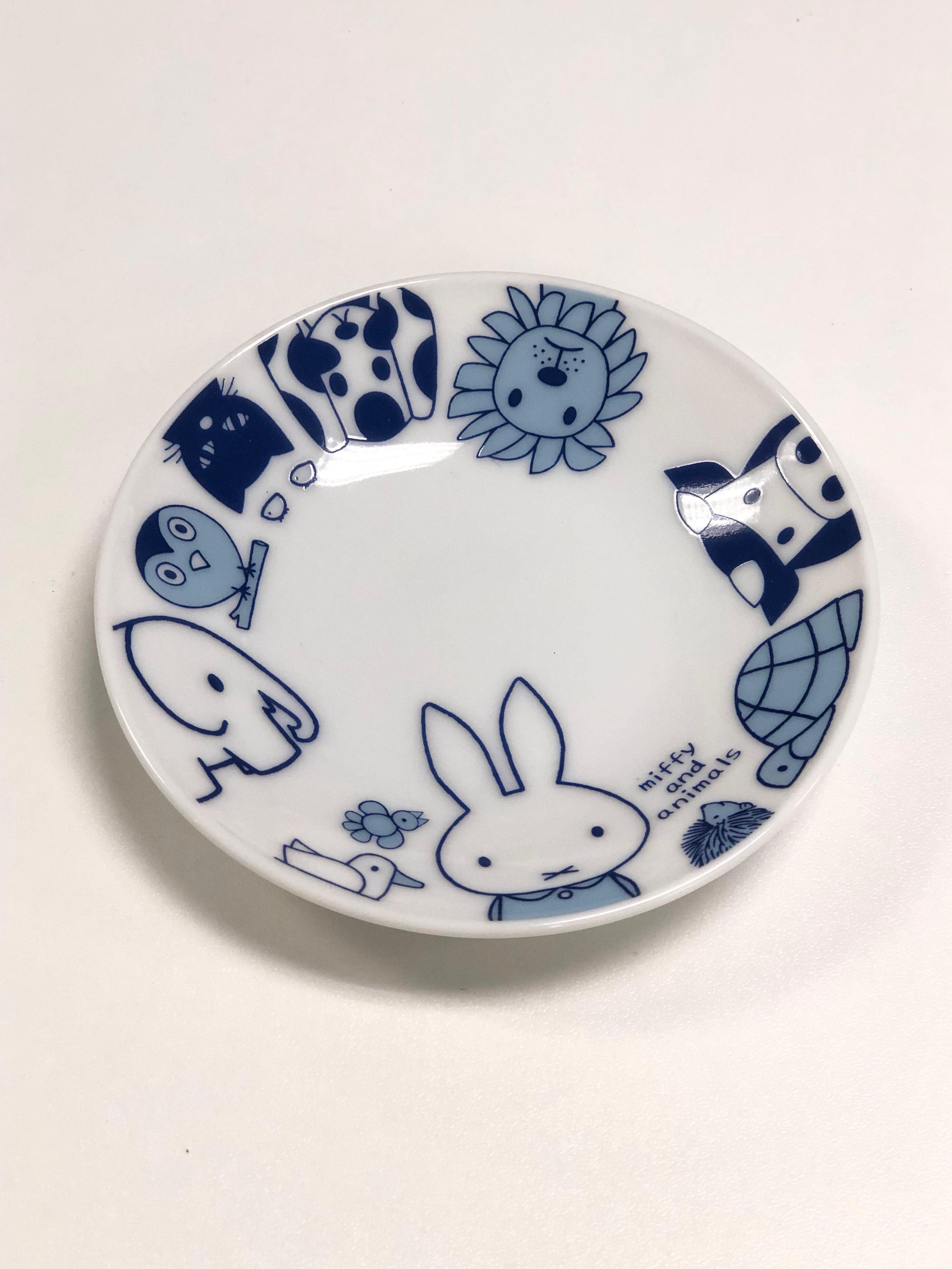 Miffy and Animals 日本製瓷器醬油碟 現貨