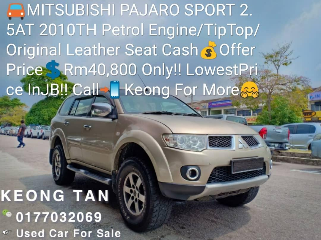 🚘MITSUBISHI PAJARO SPORT 2.5AT 2010TH Petrol Engine/TipTop/Original Leather Seat Cash💰OfferPrice💲Rm40,800 Only‼ LowestPrice InJB‼ Call📲 Keong For More🤗