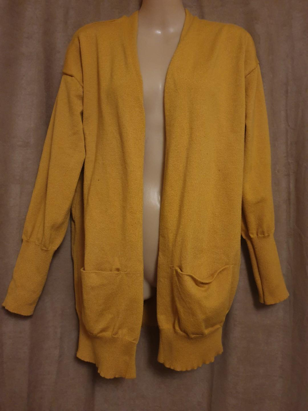 Mustard Cardigan Size Small Good Preloved Condition