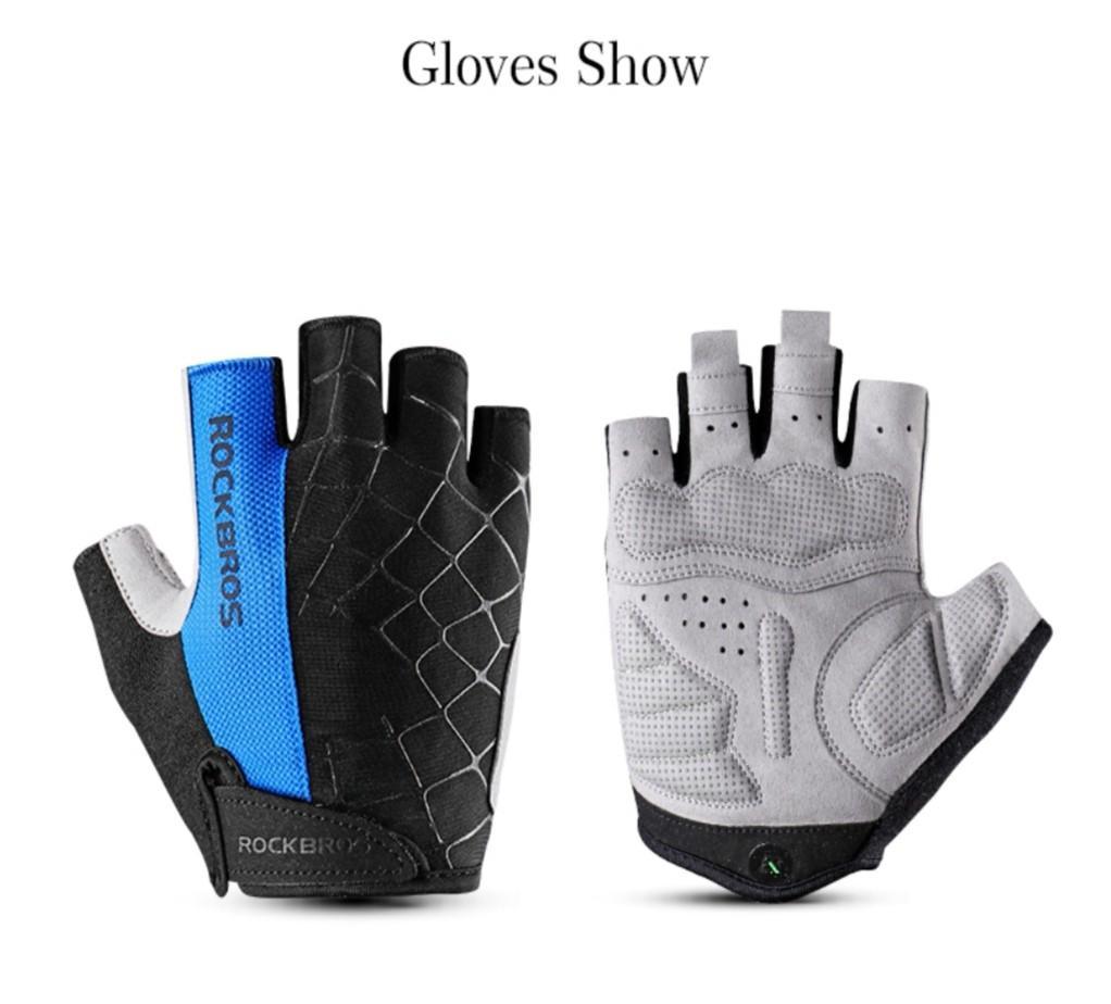 RockBros Summer Cycling Bike Half Short Finger Gloves Shockproof Breathable MTB Road Bike Bicycle Gloves #Balance