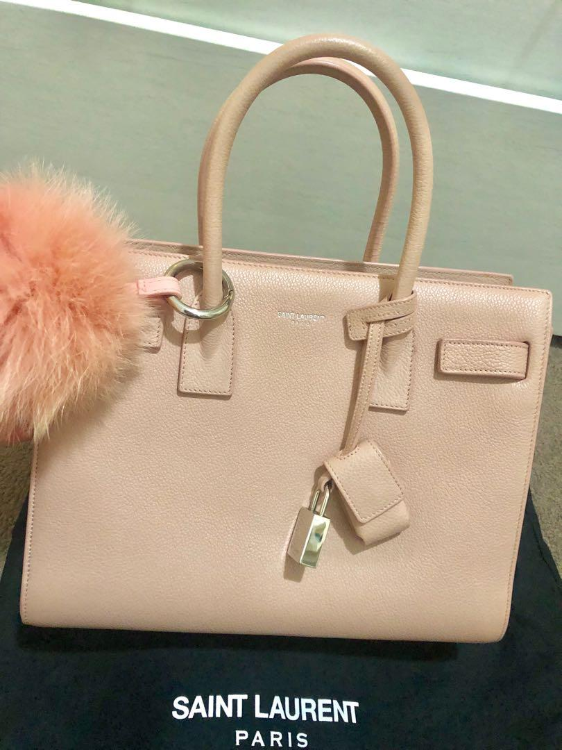 Saint Laurent Baby Sac De Jour-Dusty Rose with GHW