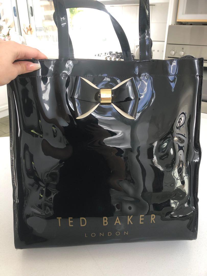 Ted Baker Black Patent Leather Baf