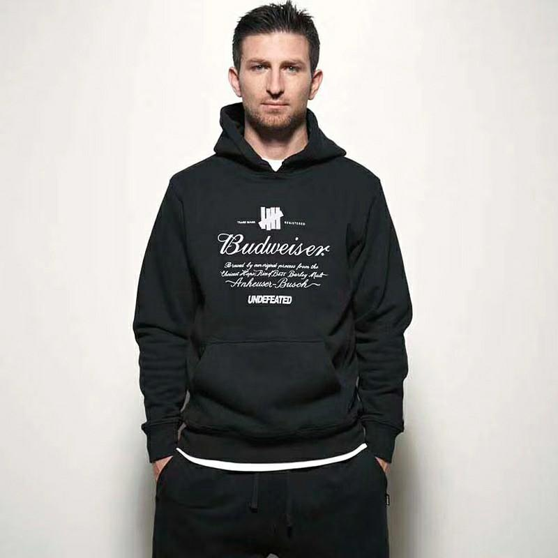 Undefeated X Budweiser Hoodie Pullover Sweater