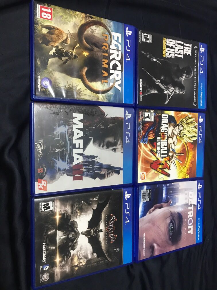 Used PS4 games for sale