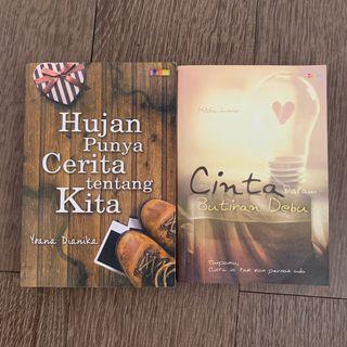 20RB DAPAT 2 - Novel Indonesia - Hujan punya cerita tentang kita dan Cinta dalam butiran debu