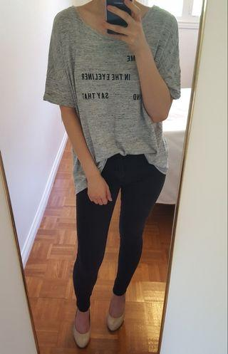 Zara Loose Grey T-Shirt