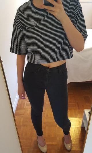 Zara Striped Cropped T-Shirt