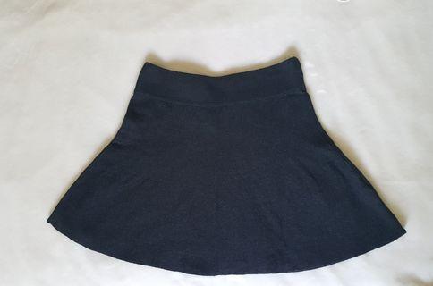 Garage Cotton Charcoal Mini Skirt