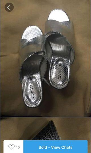 H&M silver wedges open toe
