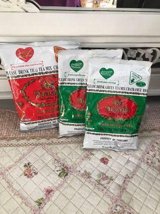 Teh Thai Tea bubuk chatramue green tea / greentea HALAL 200gr