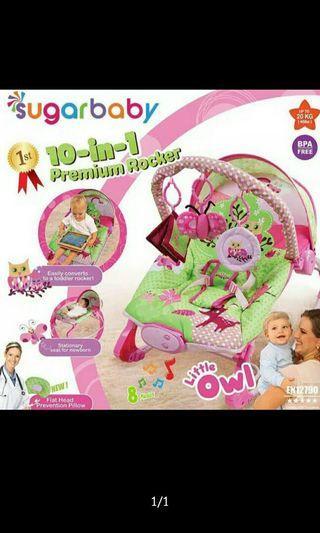 Bouncer Sugar Baby owl Pink