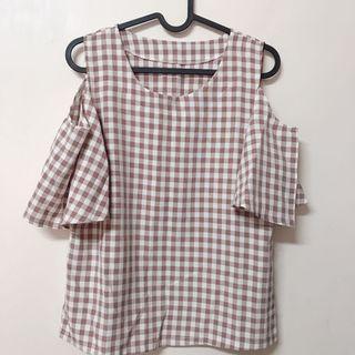 方格上衣/短褲(整套賣)