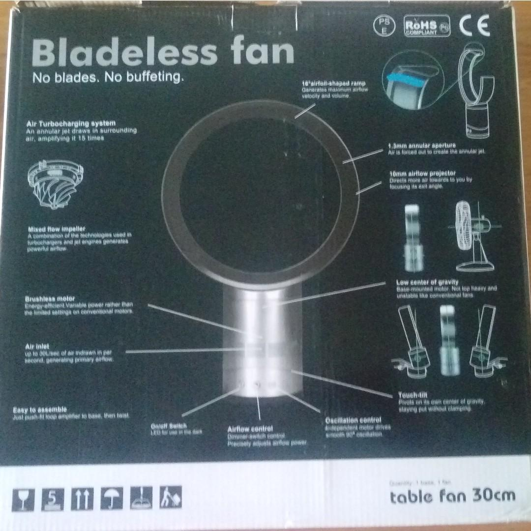 12 inch bladeless table fan