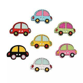 CARS Wooden Buttons