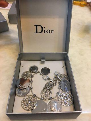 Dior 正品絕版超美手鍊/限量絕版款/古硬幣