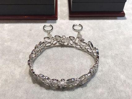 京華鑽石💎18K金鑽石耳環/手鍊