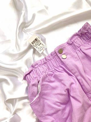 全新有吊牌 紫色牛仔短褲