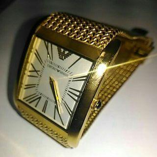 二手 亞曼尼 EMPORIO ARMANI 經典紀念錶  男用錶款