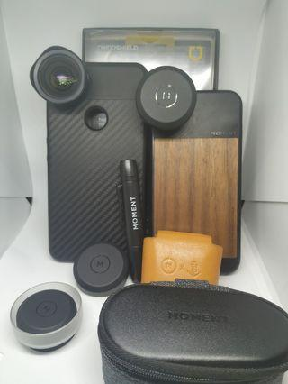 Moment lens with solidsuit case